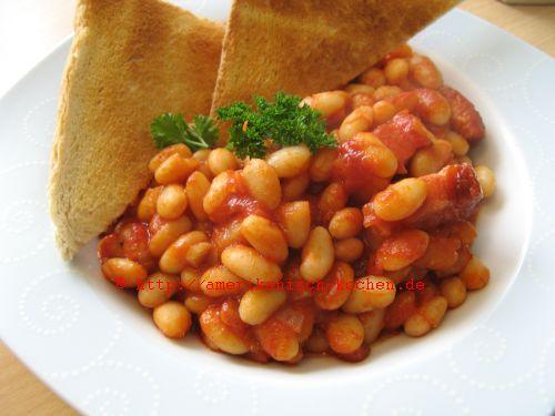 Baked beans gebackene bohnen amerikanisch for Kochen englisch