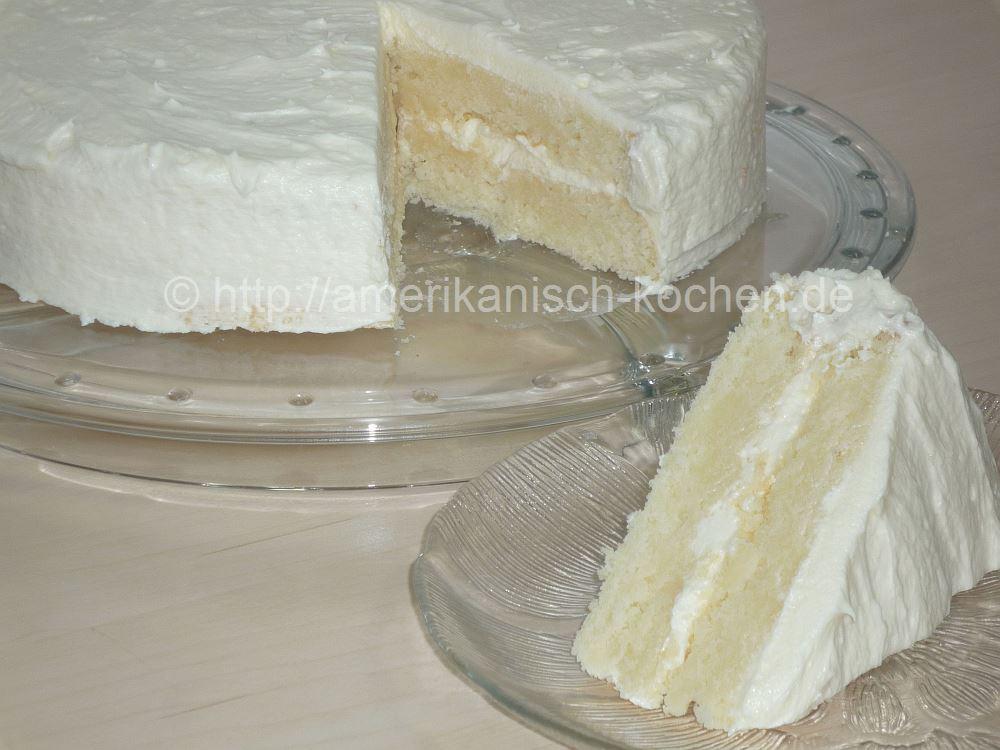 White Cake Beliebte Amerikanische Torte An Feiertagen