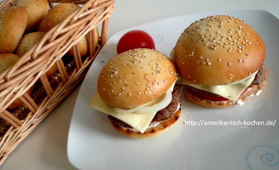 Hamburger Cheeseburger Amerikanisch Kochende