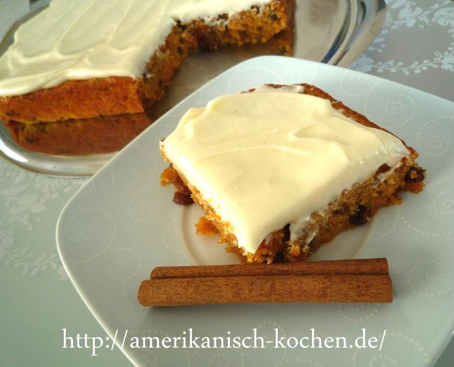 Carrot Cake With Cream Cheese Frosting Mohrenkuchen Mit Frischkase