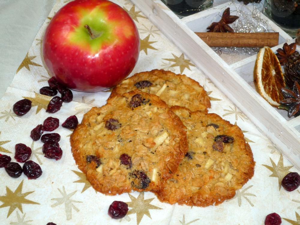 Bild von Apfel Cranberry Cookies