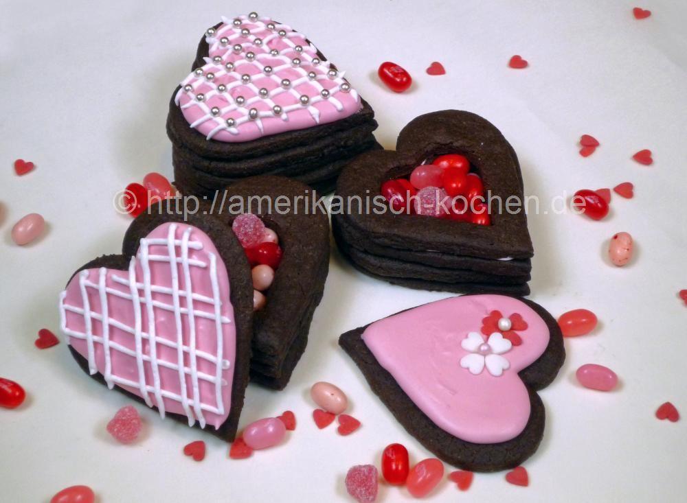 Cookie Herz Box Zum Füllen Für Den Valentinstag   Amerikanisch Kochen.de