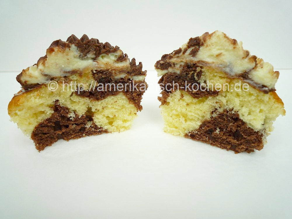 Schoko Vanille Cupcakes Amerikanisch Kochen De