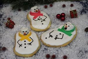 melten snowman cookies