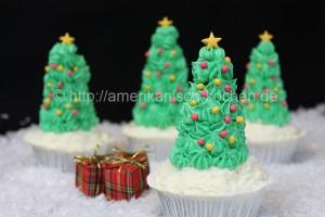 weihnachtsbaum cupcakes