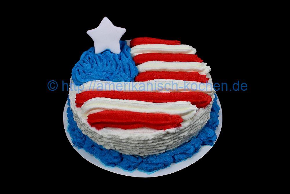 Unsere Logo Torte Us Flag Cake Flaggen Torte Usa Flaggen Kuchen