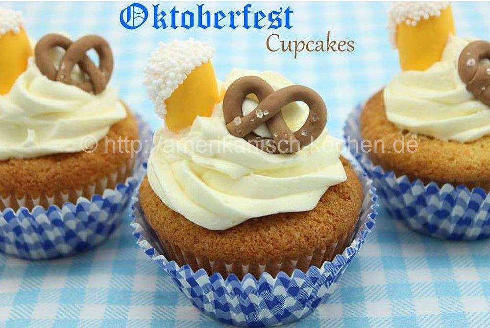 oktoberfest cupcakes karamell vanille cupcakes amerikanisch. Black Bedroom Furniture Sets. Home Design Ideas