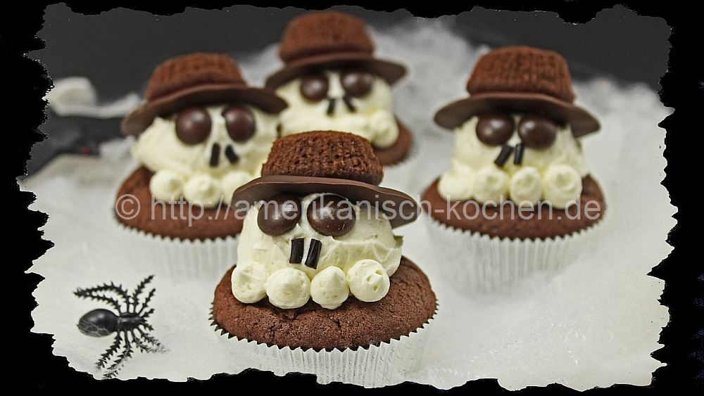 halloween week 5 totenkopf cupcakes amerikanisch. Black Bedroom Furniture Sets. Home Design Ideas