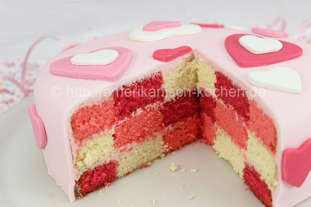 Valentinstag Woche 5 Valentine Checkerboard Cake Amerikanisch