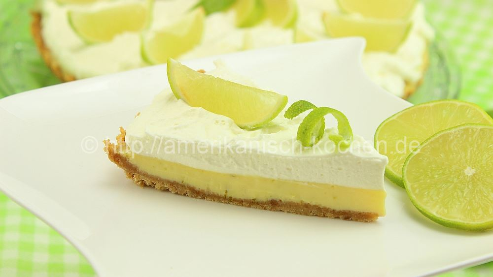 Key Lime Pie (Kuchen-Dessert aus Limetten) - amerikanisch-kochen.de