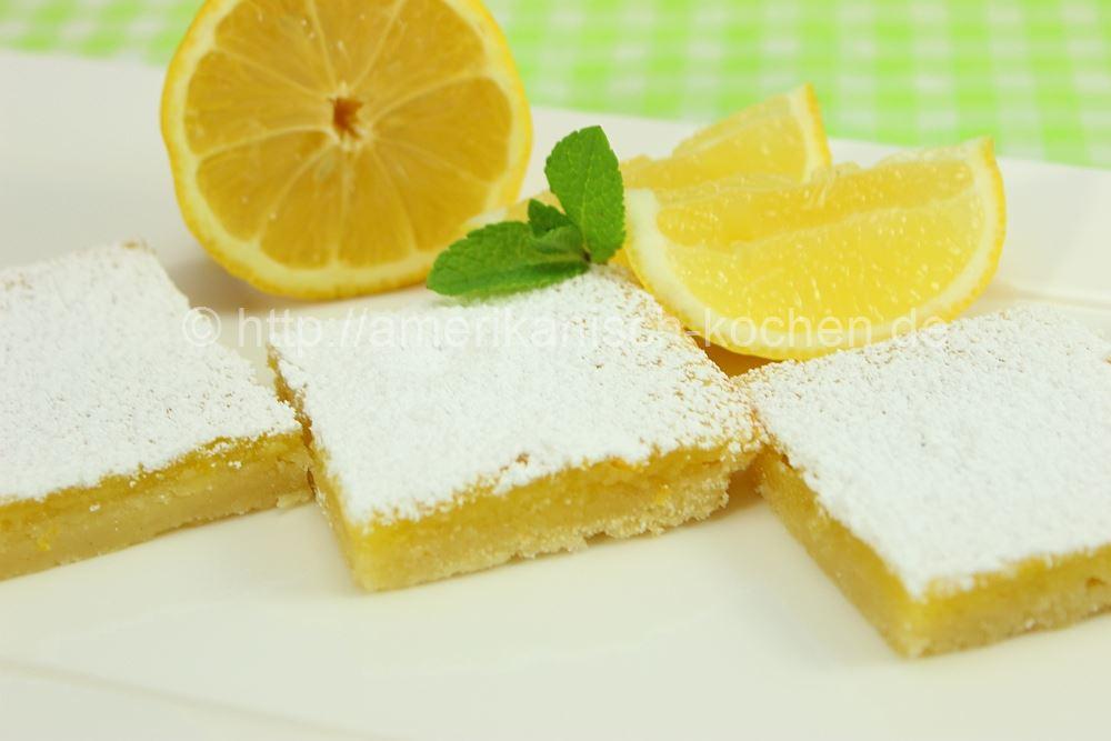 Lemon Bars Leckere Zitronenschnitten Amerikanisch Kochen De