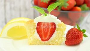 Erdbeer Zitronen Cupcakes