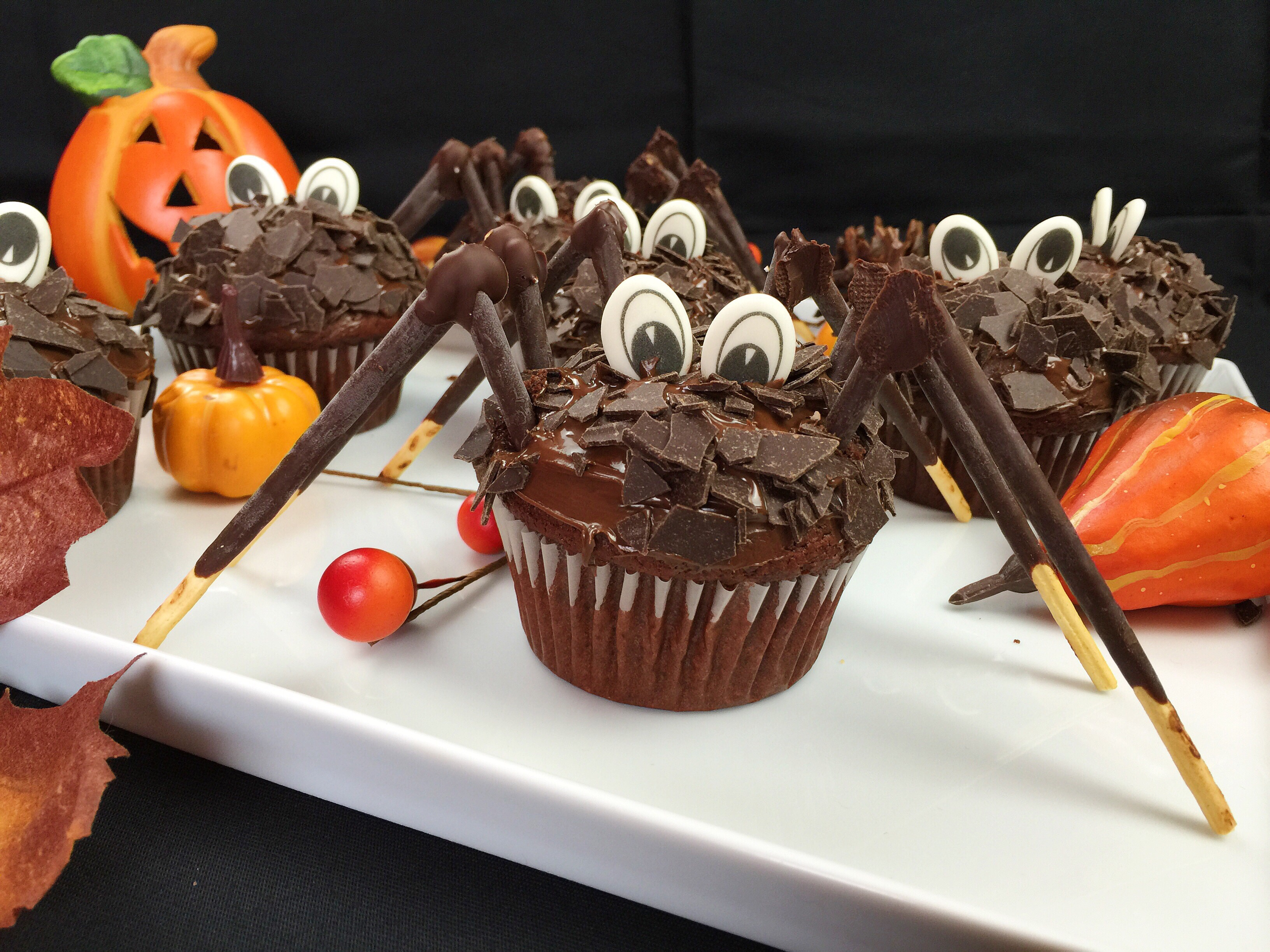 spinnen cupcakes bei cookbakery halloween woche 2015 2. Black Bedroom Furniture Sets. Home Design Ideas