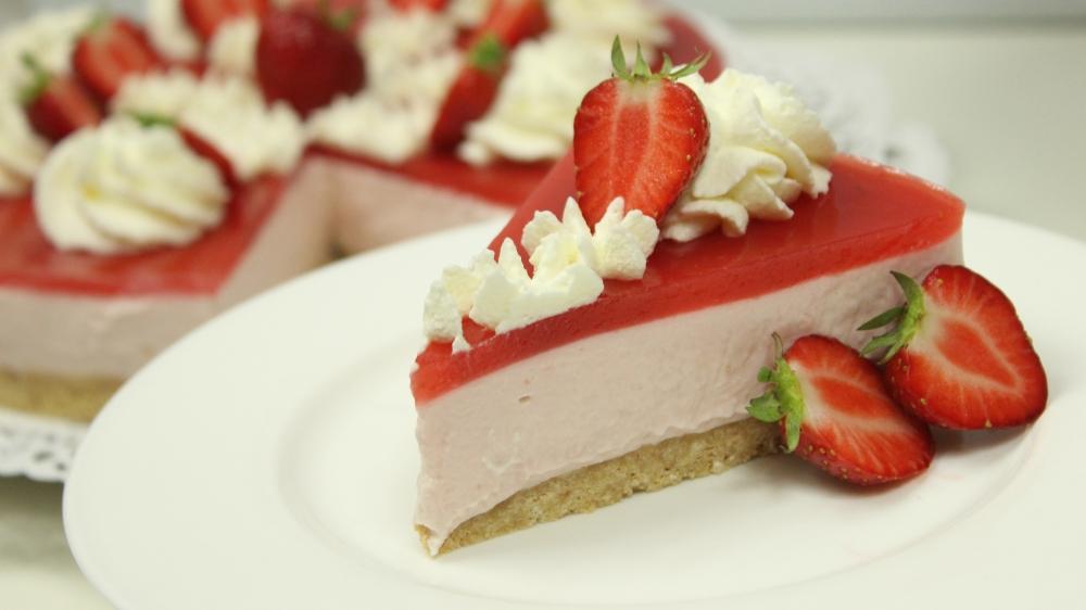 Erdbeer cheesecake mit erdbeerspiegel gewinnspiel amerikanisch - Kuchenspiegel mit fototapete ...