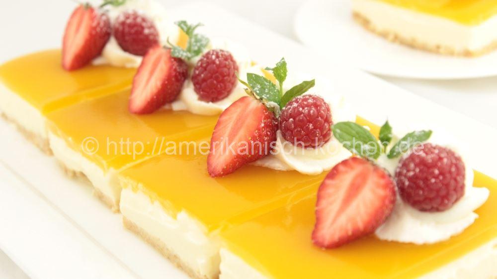 Rezept Mango Cheesecake Fruchtige Mango Schnitten Ohne Gelatine