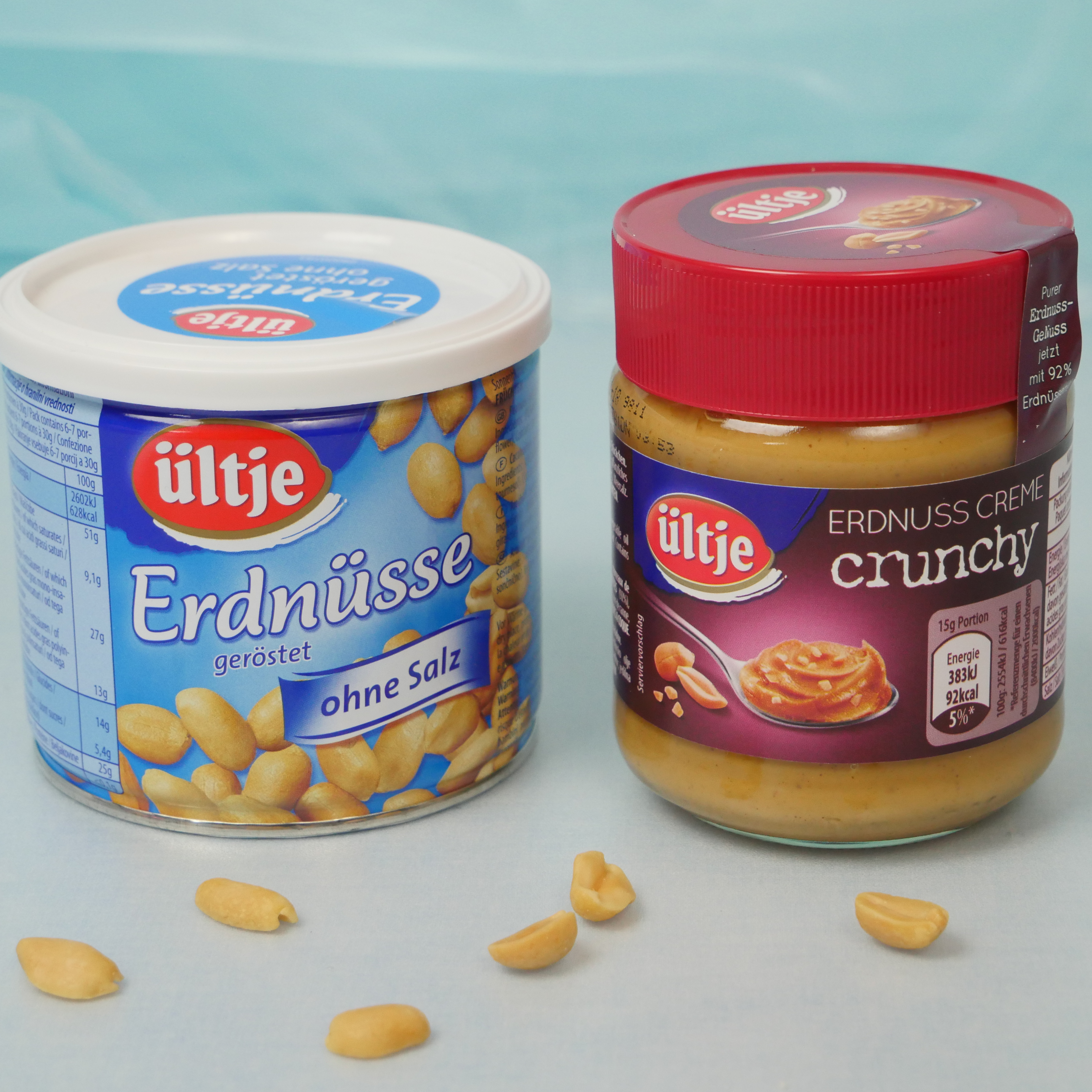 Bild von Erdnussbutter und Erdnüssen