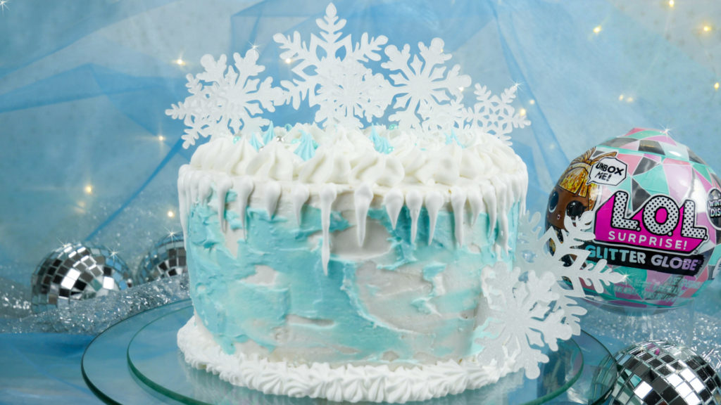 eine frozen torte in winter disco optik